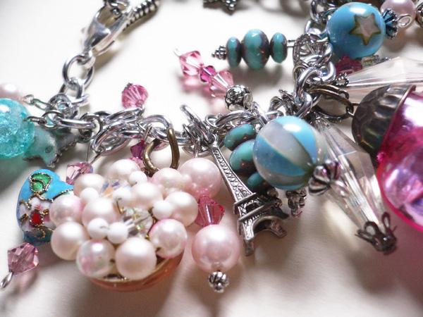 Blue pink bracelet 1b
