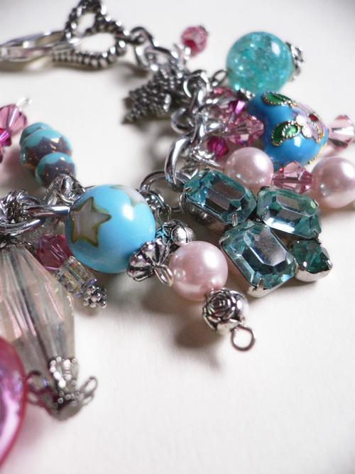 Blue pink bracelet 1a