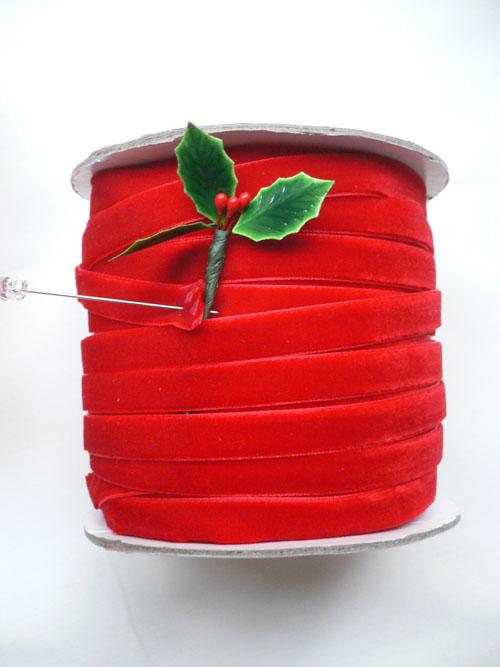Red velvet trim