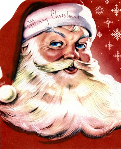 Vintage-santa-claus-with-red-background-and-stars-free-clip-art